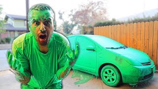 INSANE SLIME PRANK!! HE SLIMED ME AND MY CAR!! 😡 *PARKER'S REVENGE PRANK* This means war...
