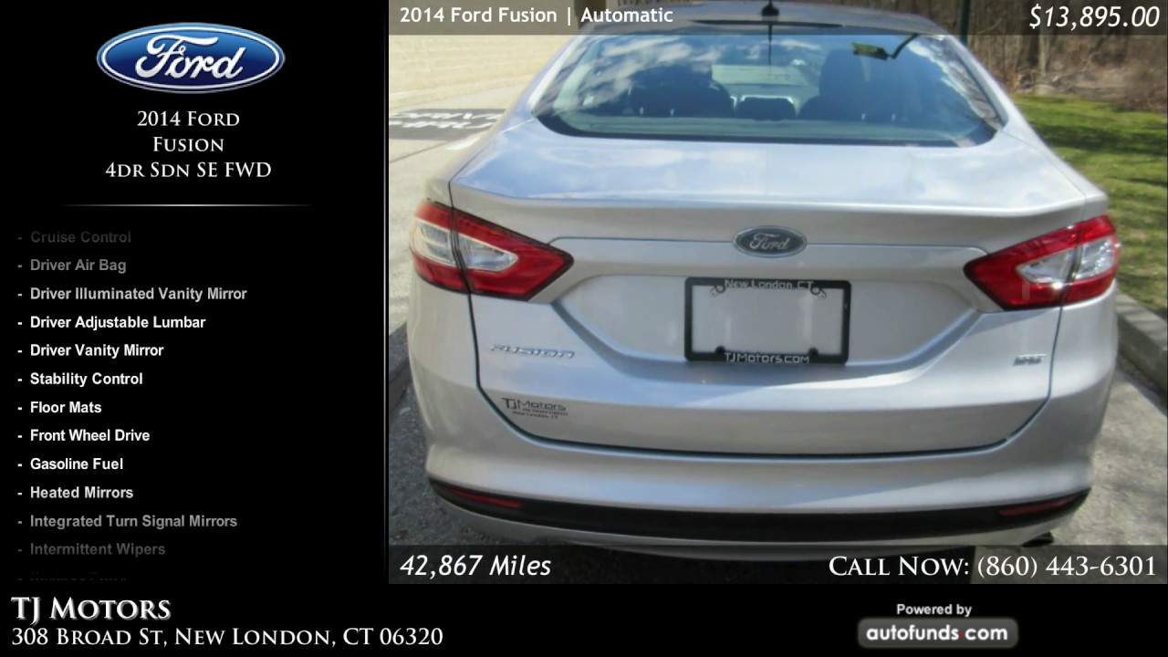 used 2014 ford fusion tj motors new london ct sold