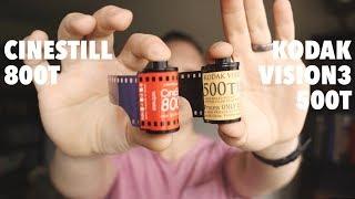 Cinestill 800T vs Kodak Vision3 500T - Battle of The 35mm Tungsten Films