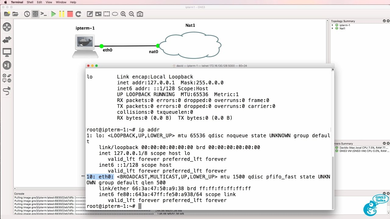 GNS3 Talks: ipterm: Linux, Docker, Python, SDN and more! Part 1
