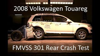 2002-2010 Volkswagen Touareg FMVSS 301 Rear Crash Test (50 Mph)