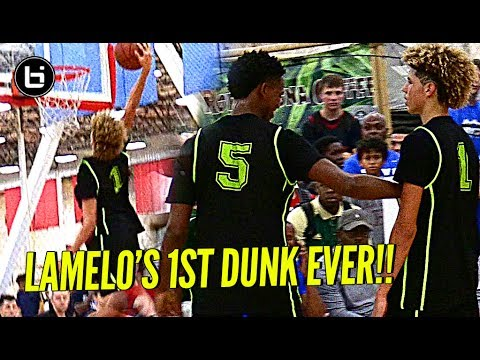 LaMelo Ball FIRST IN GAME DUNK EVER!! Punches The One Hander!!