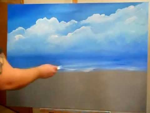 easy ocean landscape paintings. acrylic sky and ocean painting by miguel angel easy landscape paintings a