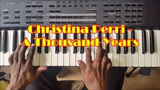 A Thousand Years Easy Piano Tutorial - How To Play - Christina Perri