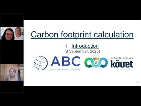 Webinar 1: Introduction (Carbon Footprint Calculation) with KÖVET