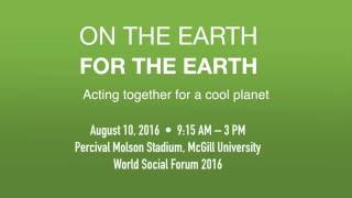 On the Earth, for the Earth: Together for a cool planet
