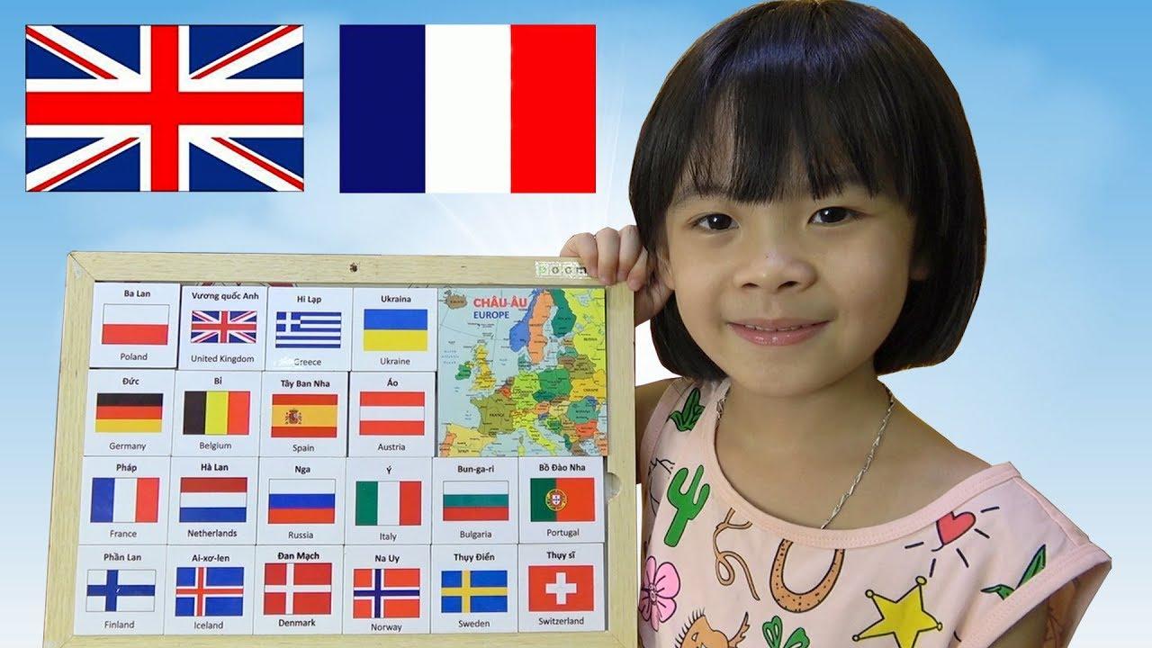 image Đồ Chơi Thông Minh – Bé Nhận Biết Cờ Các Nước Châu Âu ❤ AnAn ToysReview TV ❤