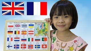Đồ Chơi Thông Minh – Bé Nhận Biết Cờ Các Nước Châu Âu ❤ AnAn ToysReview TV ❤