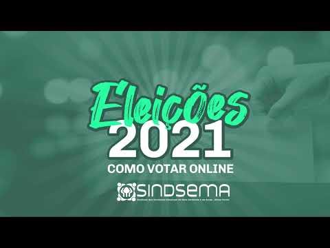 Eleições 2021 - Tutorial de votação pelo site