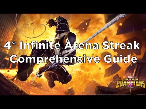 4 Star Infinite Arena Streak Comprehensive Guide - Full Run Through [Marvel Contest of Champions]