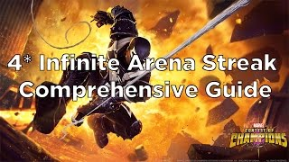 4 star infinite arena streak comprehensive guide full run through marvel contest of champions