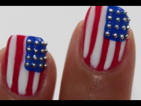 USA nail art 4th of july - USA Nail Art 4th Of July - YouTube