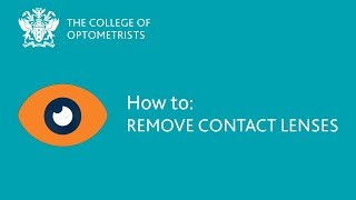 How to: Remove contact lenses