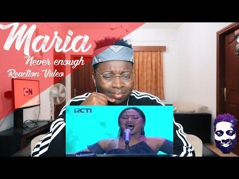 MARIA - NEVER ENOUGH (Loren Allred) - Spekta Show Top 7 - Indonesian Idol 2018 REACTION VIDEO