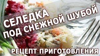 Рецепты салатов. Селедка под снежной шубой простой рецепт приготовления