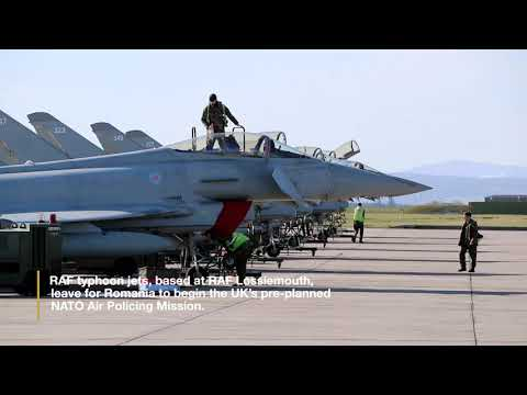 RAF Typhoons on NATO Air Policing mission in Romania