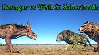 Baixar Ravager vs Direwolf, Sabertooth and Purlovia!    ARK Aberration    Cantex