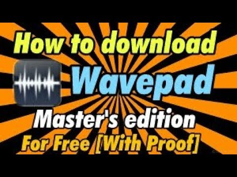 How to download wavepad master's edition free