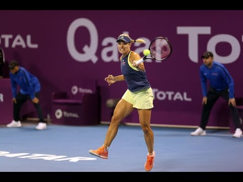 2018 Qatar Shot of the Day: A glorious lob from Angelique Kerber