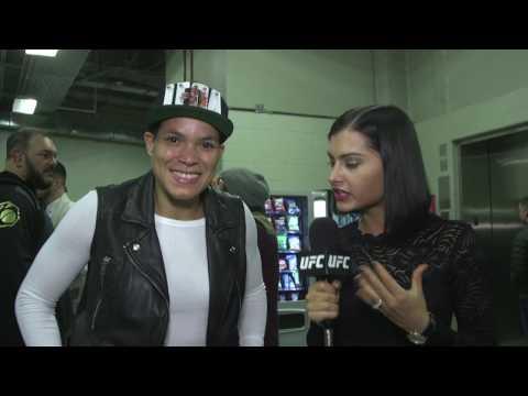 UFC 207: Amanda Nunes Backstage Interview