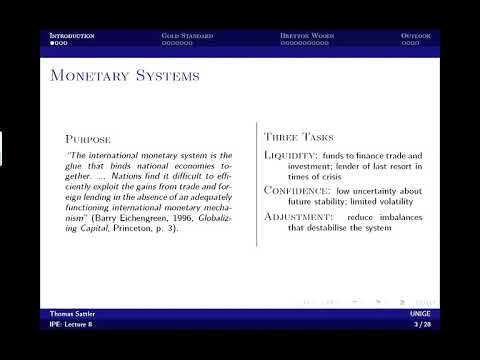 8/12 International Political Economy -  International monetary cooperation