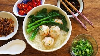 Rice Vermicelli Soup With Shrimp Balls