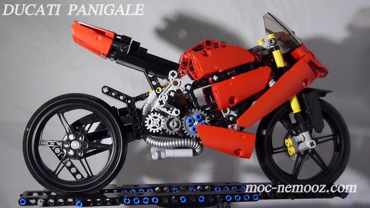DUCATI Panigale - LEGO TECHNIC MOTORCYCLE - YouTube