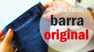 Barra Original simples em calça jeans