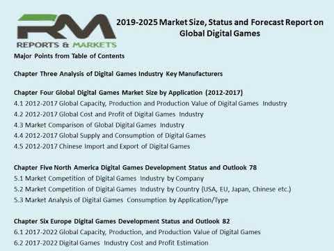 Global Digital Games Market Size, Status And Forecast 2019 2025