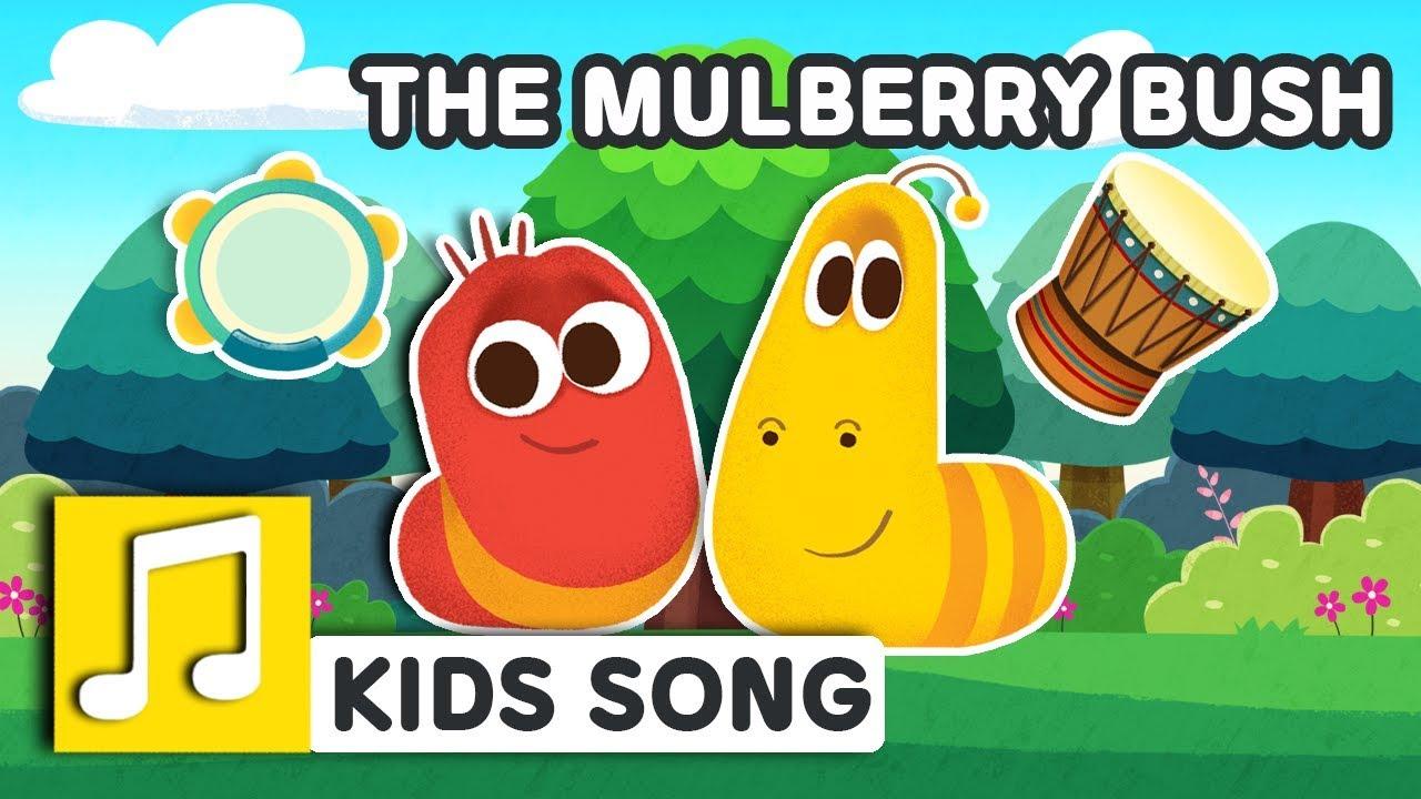 MULBERRY BUSH | NURSERY RHYME | BEST KIDS SONG | LARVA KIDS | FULL SONG |  FAMILY SONG