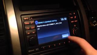 Nissan connect карта навигации РФ.