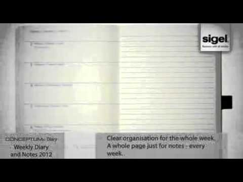 CONCEPTUM classy Diary_ Weekly Diary and Notes 2012