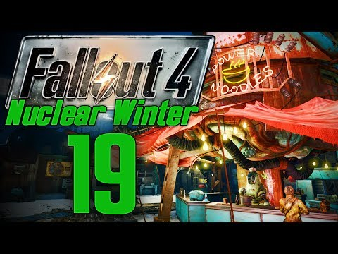 DIAMOND CITY DRAMA   Fallout 4: Nuclear Winter #19   Modded Survival Gameplay