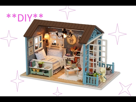 DIY DOLLHOUSE ||AMERICAN RETRO DOLLHOUSE Miniature part2 || TiaTia
