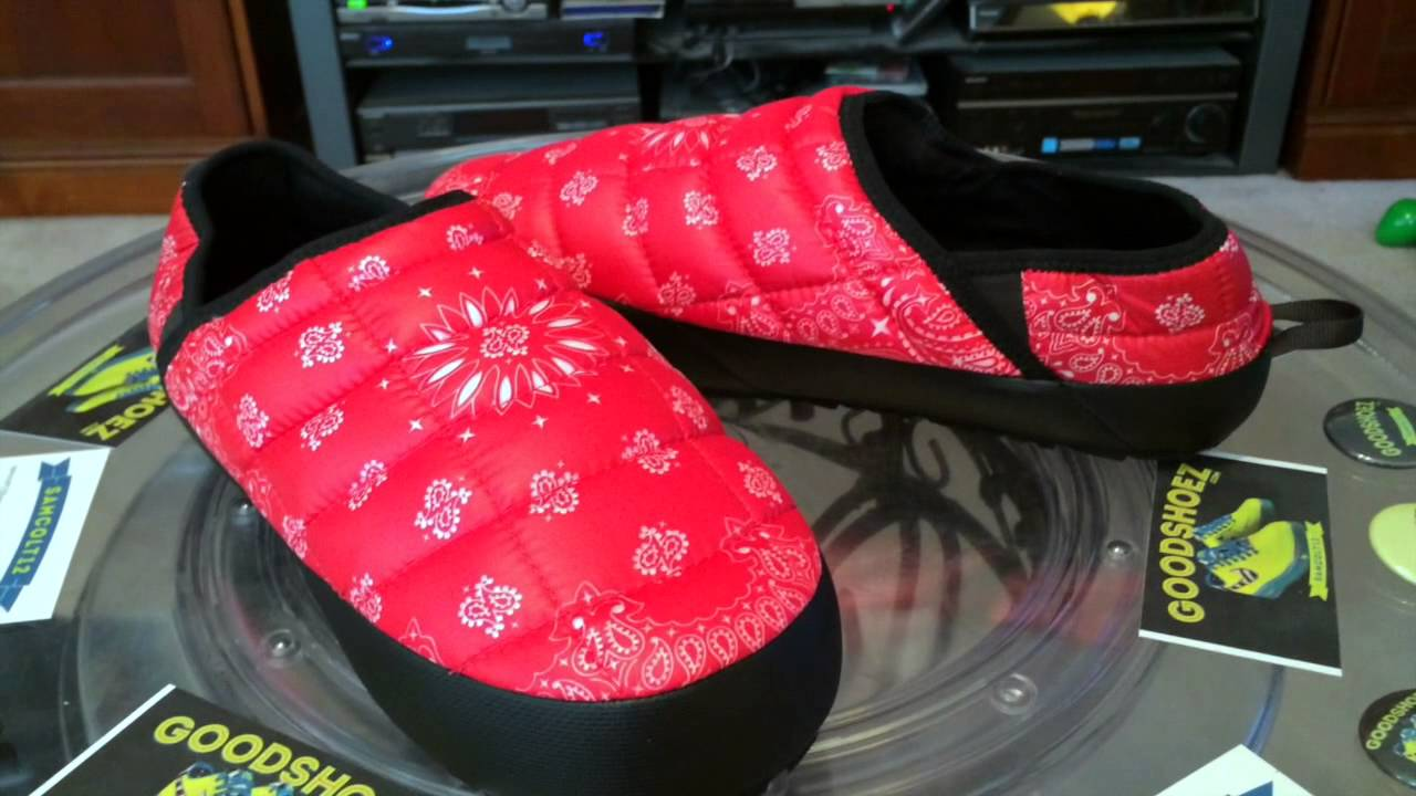 361f584105  TheNorthFace x Supreme TNF Bandana Traction Mule Slipper - red colorway -  11-29-14 - YouTube
