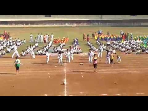 Gymnastic formance and thkendo demo by DAV Thane on sports day 2017