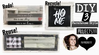 DIY Farmhouse Crafts | DIY Farmhouse Signs | DIY Farmhouse Decor | DIY Redo Reuse Recycle Crafts