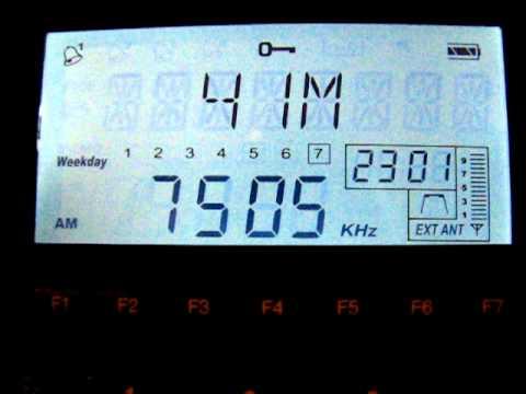 SW: Radio Free Chosun 7505 kHz Tashkent, Uzbekistan 2011-07-17