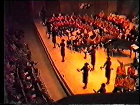 Birmingham Citadel Timbrels In Roy Thomson Hall, Toronto Canada In 1986