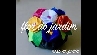 Peso de Porta, com flores de feltro – doorstop with flowers