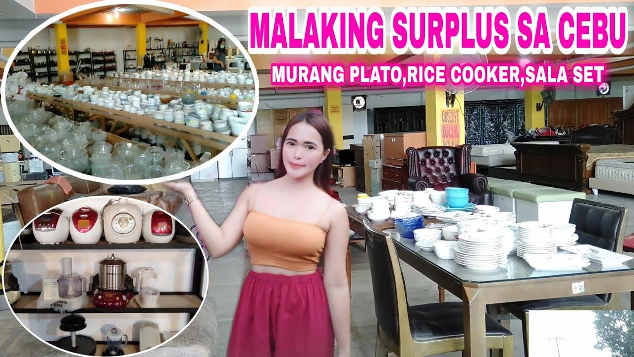 Malaking surplus warehouse + murang rice cooker sala set at plato