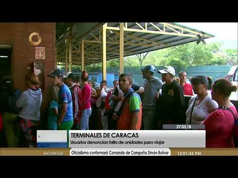 Usuarios denuncian falta de unidades para viajar en terminales de Caracas