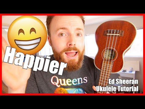 HAPPIER - ED SHEERAN (Fingerpicking Ukulele Tutorial)