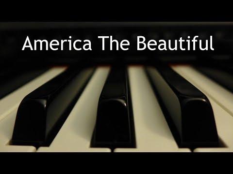 America the Beautiful - piano instrumental with lyrics