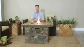 Red Ember Galiano Propane Fire Pit Table - Product Review Video
