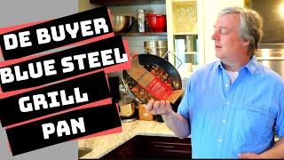 De Buyer Blue Steel Perforated Grill Pan: Seasoning, Cooking & Review