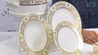Посуда из белого фарфора Сабина (Sabina) Золотой орнамент 1373 (Leander, Чехия)(, 2018-02-03T15:39:48.000Z)