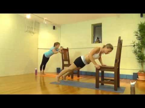 Yoga, Pilates & Cardio Chair Workout Video: 60 min - Work out in your own home