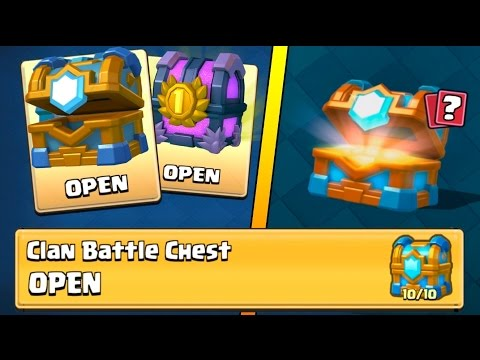 OPENING ''10 OUT OF 10'' CLAN BATTLE CHEST :: Clash Royale :: 2V2 BATTLE AND CHEST OPENINGS