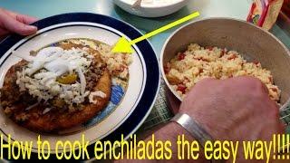 Tostada - How to make Honduran enchiladas
